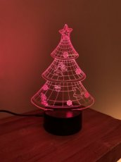 3d-lamp kerstboom